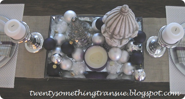 Purple Christmas Tablescape 4