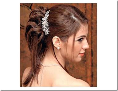 Peinados para novia con accesorio en el pelo de diadema 2012