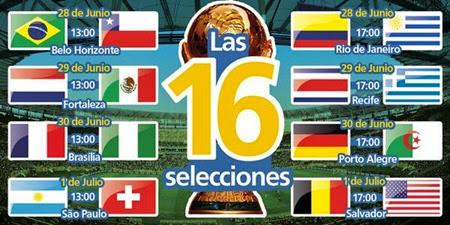 Octavos de final - Brasil 2014