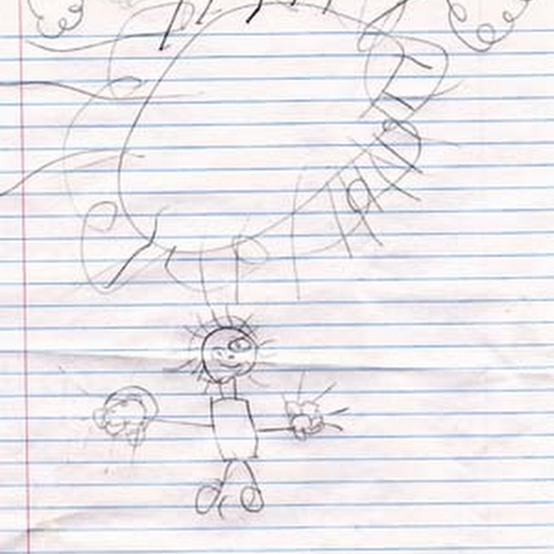 Child Art – Watching Children Drawing - Imitation and Simplification