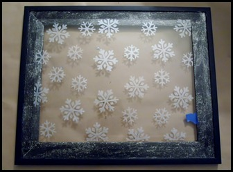 Stenciled Snowflake Tray (2)