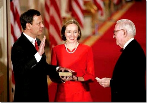Swearing in of Supreme Court Chief Justice John Roberts.