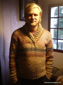 Gustav as knitting model