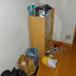 my messy apartment in roppongi in Tokyo, Tokyo, Japan