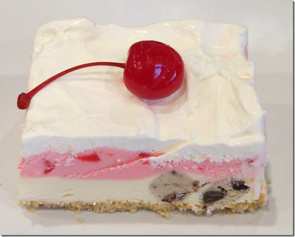 Cookie Dough Maraschino Cherry Ice Cream Cake