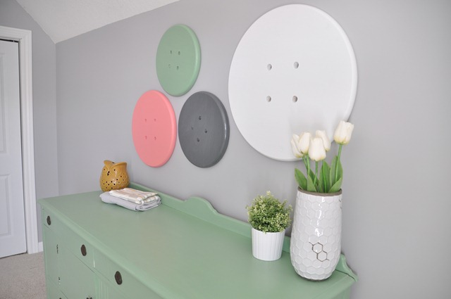 Craft Room Button Wall Art
