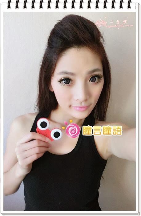 韓國GEO隱形眼鏡-GEO Holicat 荷麗貓時尚藍(Funky Cat)12
