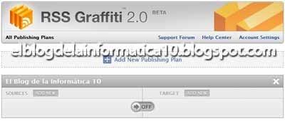 Aplicación RSS Graffiti (Blog y Facebook)