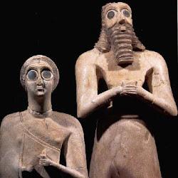 12 bis - Detalle de figuras de Tell Asmar
