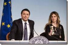 Matteo Renzi e Marianna Madia