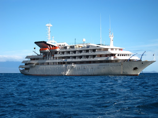The 100 passenger M/V Galapagos Explorer II