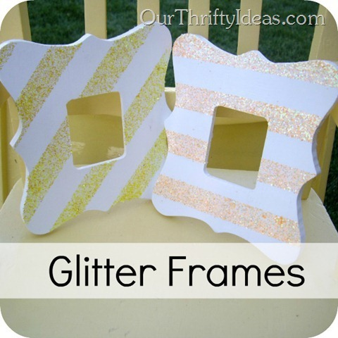 Our Thrifty Ideas: DIY Glitter Frames