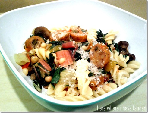 Rainbow Chard and Sausage Pasta