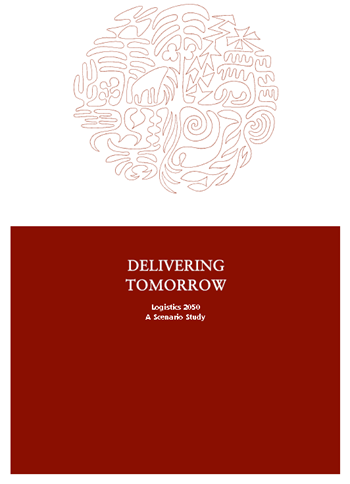 Cover of the 'Delivering Tomorrow: Logistics 2050' study by Deutsche Post DHL, February 2012.