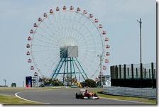 Alonso nelle prove libere del gran premio del Giappone 2011
