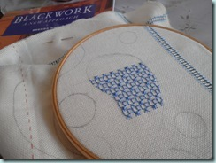 Blue blackwork