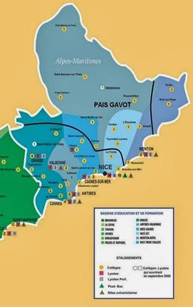 Mapa lingüistica de Niça