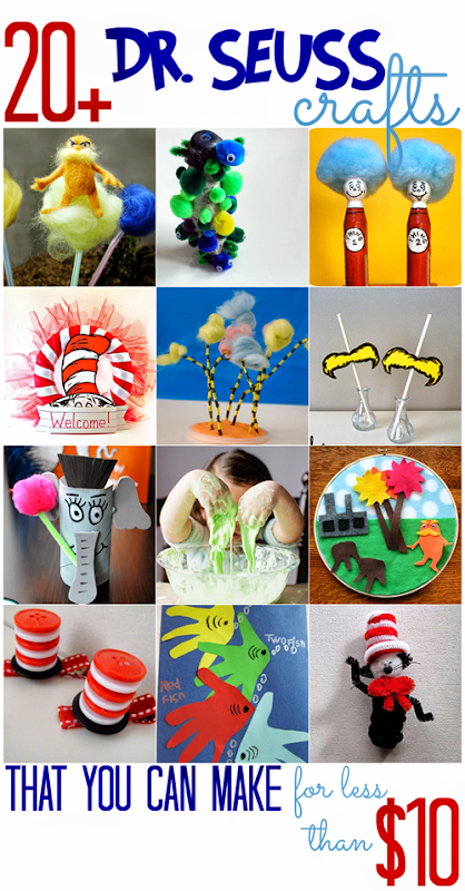 Dr. Seuss Crafts (that you can make for less than $10)