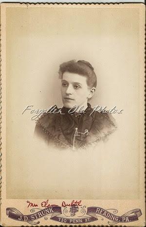 Craig Cabinet Card Mrs Elam Bechtel