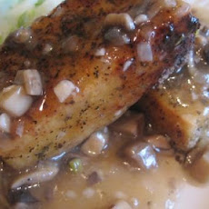 Herb Crusted Tofu With Mushroom Gravy