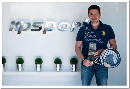 GoPro y Vibora-a juntos. La empresa equipará con sus cámaras a los jugadores de la firma.