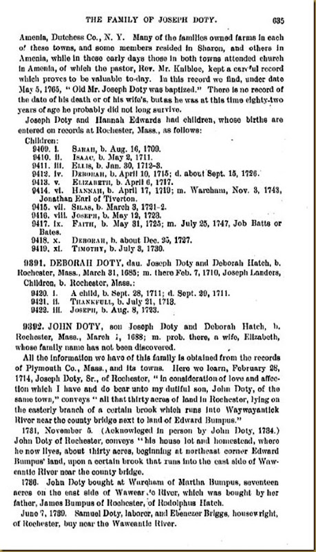 Doty-Doten Family In America-The Family of Joseph Doty10