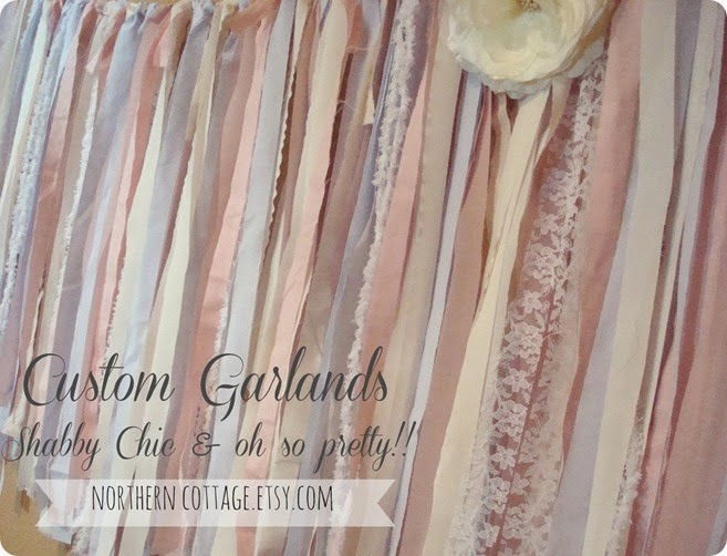 Shabby Chic Pretty Custom Garlands{NorthernCottage}