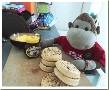 Marmite and crumpets