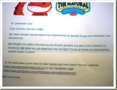 Letter From Guzzle Puzzle