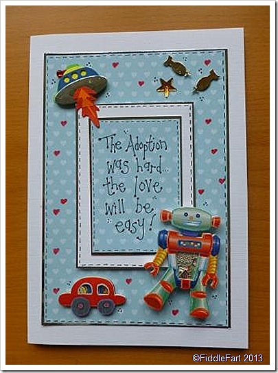 Adoption card for a little Boy
