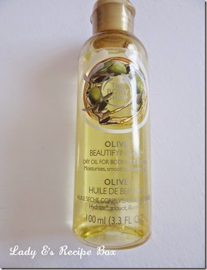 the body shop olive beauty oil