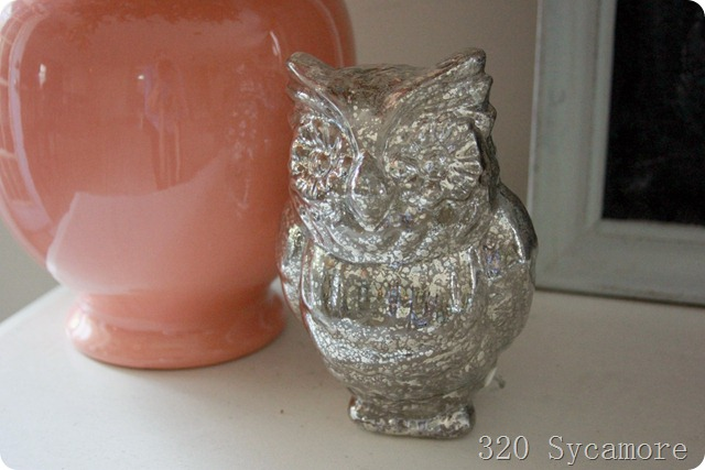 mercury glass owl from target