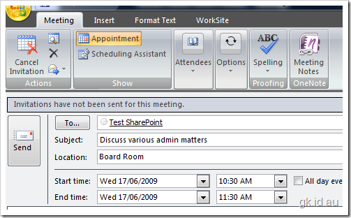 SharePoint Meeting Workspace Sites, How and Why? sharepoint 2007 sharepoint office