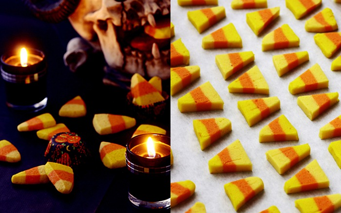 candy corn cookies collage 1