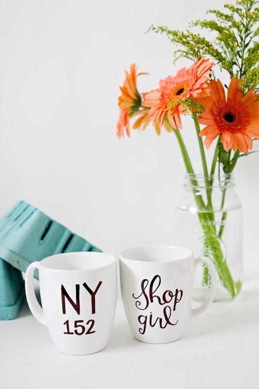 You've Got Mail NY152 and Shopgirl DIY mugs