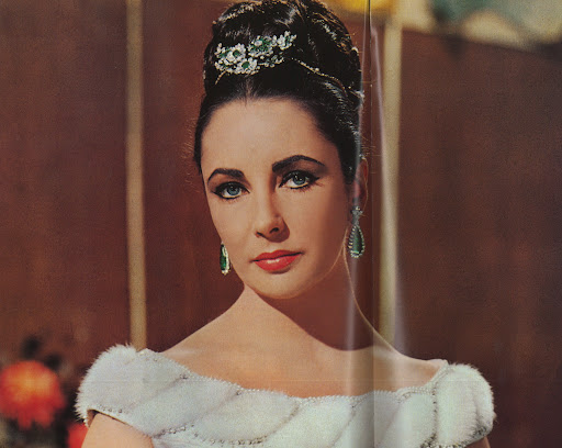 Stunning in emeralds.  (photo, Elizabeth Taylor:My Love Affair With Jewelry)