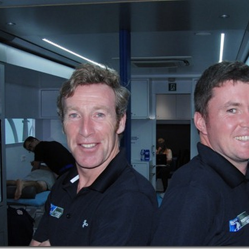 On Board The European Tour Physio Truck With Daryl Coyne and Paddy Smith