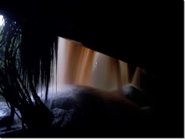 Behind Kintampo falls