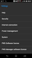 Screenshot of PWS Manager