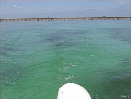 boating off 7 Mile Bridge