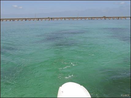 boating off 7 Mile Bridge