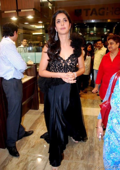 Katrina Kaif Hottest Pictures in Cute Black Dress 11