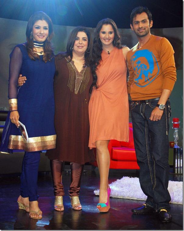 """Shoaib Malik and Sania Mirza on Raveena's show """"Isi ka Naam Zindagi Hai""""i-8"""