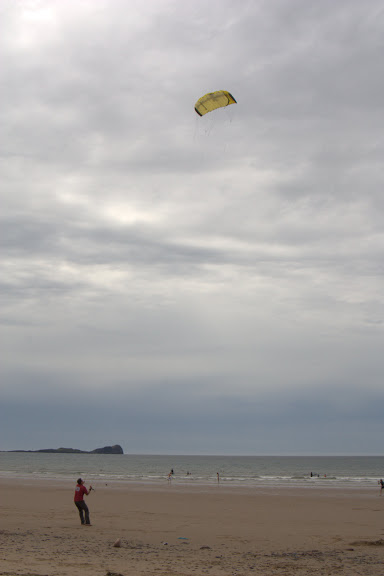 Me having a go with the kite