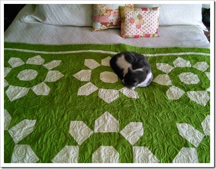Blossom Quilt Quilting