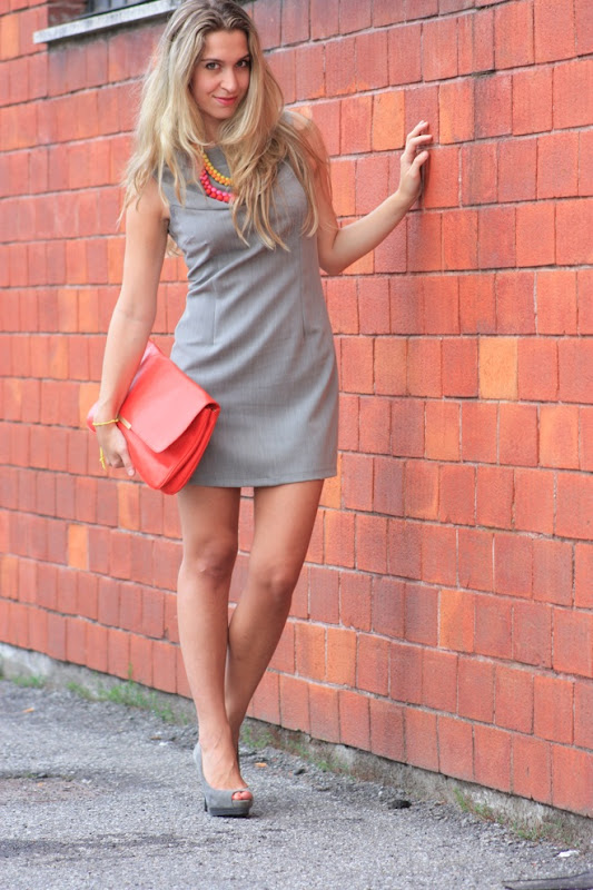 zara grey shoes, grey dress