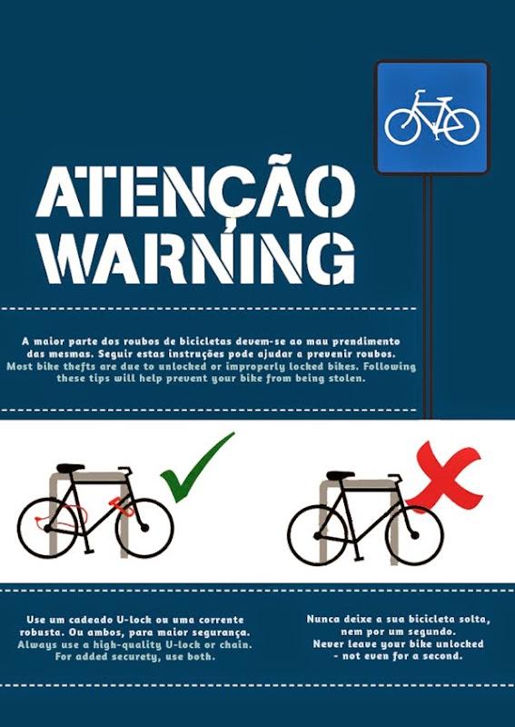 Bike roubos - aviso