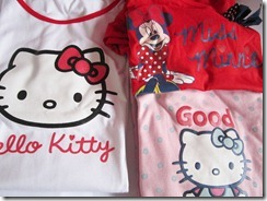 hello kitty and minnie pjs, bitsandtreats