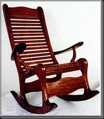 rocking-chair demonstrating rocking bottom feet