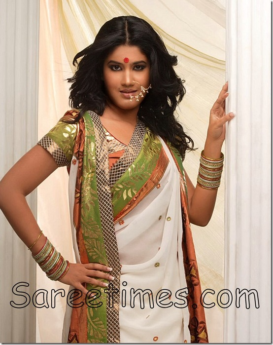 Soumya_White_Saree